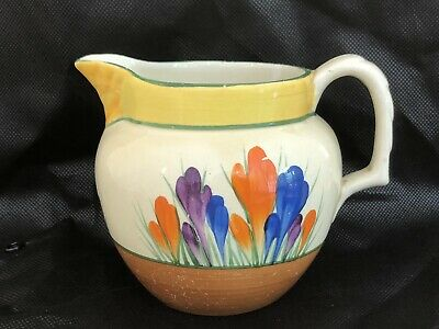 Bizarre By Clarice Cliff Gay Day Hand Painted Milk Jug C. 1930 • 15£