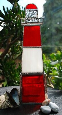 Handmade Stained Glass Lighthouse Candle Holder • 24.99£