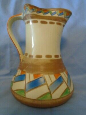Myott Son & Co Jug Art Deco Hand Painted - In Aid Of Bone Cancer Research Trust • 5£