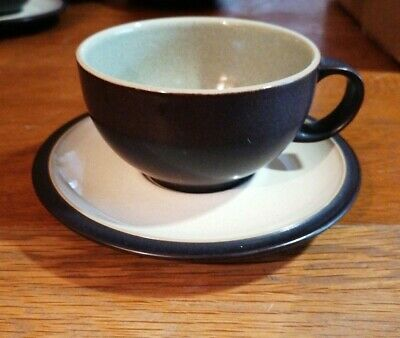 Denby Energy Cup & Saucer - Charcoal / Cream Price Per Item, 6 Available • 3.10£