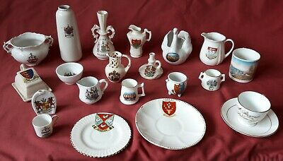 Crested Ware  Job Lot Of TWENTY ONE UNMARKED PIECES  • 6.50£