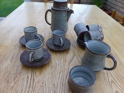 Made In Wales, Pottery Coffee Set For 6,  • 15£