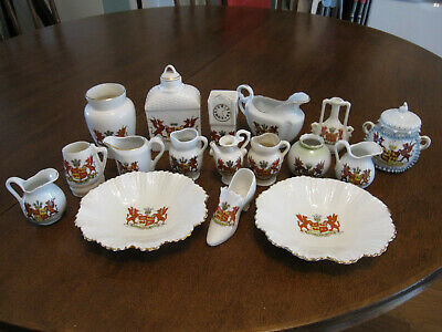 Antique Crested China Collection, 17 Pieces  Arms Of Wales   • 0.99£