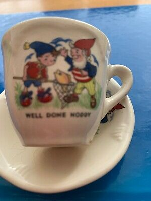 Noddy Vjntage Cup And Saucer For The Dolls Teaset. As Found • 5.50£