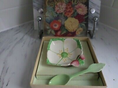 Carlton Ware Butter Dish And Spoon (Very Rare) • 24£
