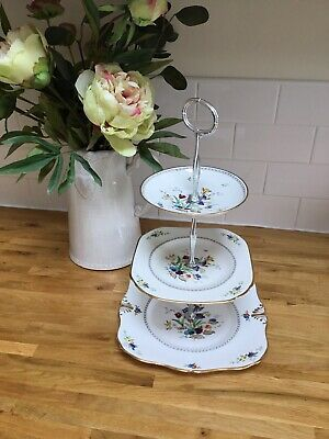 Vintage Plant Tuscan China 3 Tier Cake Stand #1 • 5£