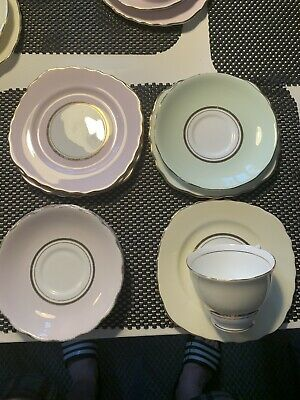Various Vintage Colclough Harlequin China 5 X Side Plates, 2 Saucers, 1 Cup • 5.50£