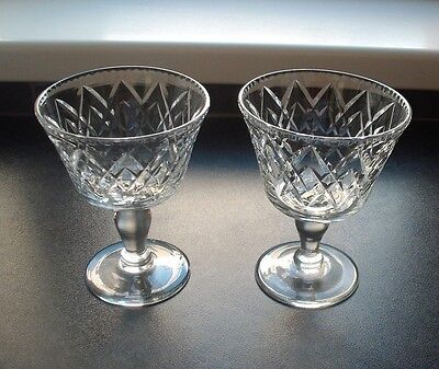 2 Webb Corbett Cut Glass Crystal Champagne/cocktail Glasses, Signed • 8.99£