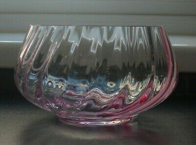 Caithness Glass, Pink Ribbon Fruit Bowl • 5.99£