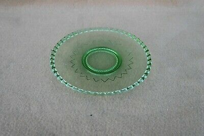 Vintage Green Glass Plate • 4.99£