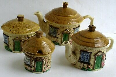 Sylvac Cottage Ware Four Piece Tea Set • 11.99£