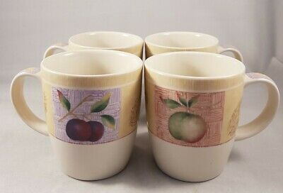 Marks And Spencer 4×  Wild Fruits Mugs Excellent Condition  • 20£