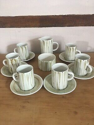 Cinque Ports Pottery The Monastery Rye Green/ Brown Coffee Set • 4.99£