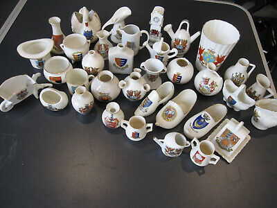 Antique Crested China Collection 35 Pieces. Goss, Foley, Swan, Arcadian Etc. • 3.61£