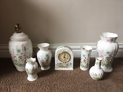 Aynsley Wild Tudor Job Lot 7 Pieces Inc Lamp And Clock • 14.50£
