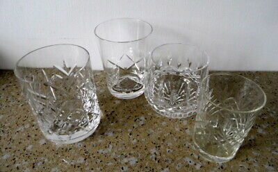 **cut Glass Whisky  Glasses**  Waterford & Stuart Crystal - Four - Charity Funds • 4.99£