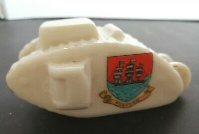 Vintage Crested China WW1 Tank, Runcorn Crest, Stamped To Base.  • 10£