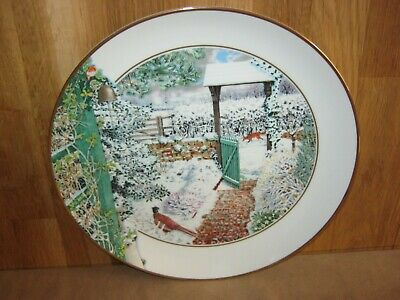 Franklin Porcelain Large Garden Year Collector Plate January • 3.99£