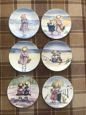 6 Royal Worcester - One Glorious Summer Decorative Plates • 5.30£