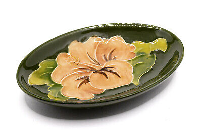 Moorcroft - Oval Pin Dish - Hibiscus Pattern • 2.20£