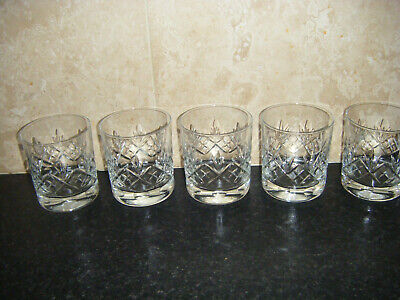 Lovely Cut Glass Whisky Tumblers X 5 • 8.70£