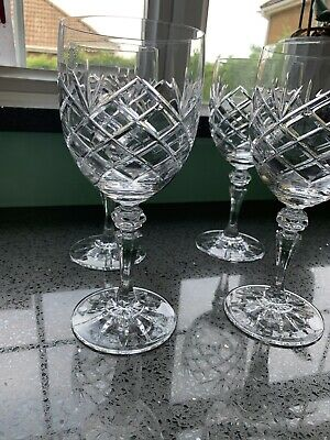 Galway Irish Crystal CLARE Oval Goblets X 4 • 100£