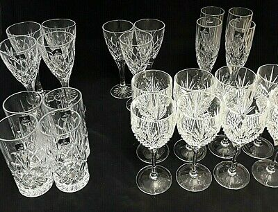 23 X Royal Doulton Crystal Glasses - 5 Different Styles - Very Good Condition • 50£