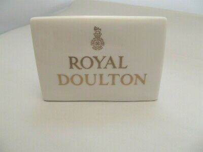 Royal Doulton Triangular Advertising Dealer Display Stand Sign • 19.75£