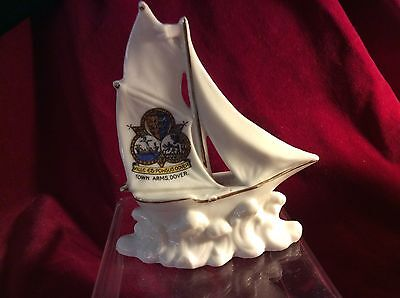 Perfect. Crested China Sailing Boat From Town Arms Dover  Lovely Piece. • 13.50£