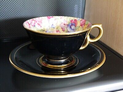 Rare Vintage 1930's? Royal Winton Grimwades Best Gold Sweetpea Cup And Saucer • 2.99£