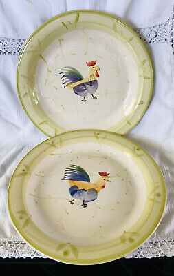 Scotts Of Stow Pair Of Cockerel/Chicken Dinner Plates • 11.99£