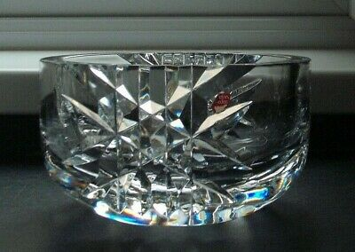 Orrefors Cut Glass Crystal Bowl, A4359-121 • 45.99£