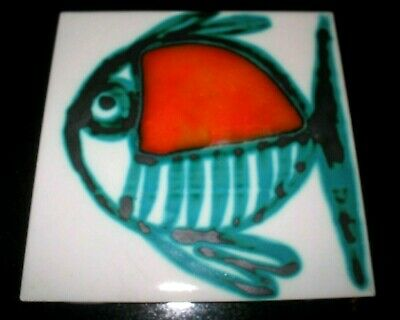 MID CENTURY POTTERY TILE ANNE WYNN REEVES STYLE 50s/60s CARTER TILE RUSSELL? • 24.99£