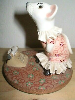 Vintage David Fisher Studio Pottery  Mouse Victorian Dress With Typewriter 1981 • 14.99£