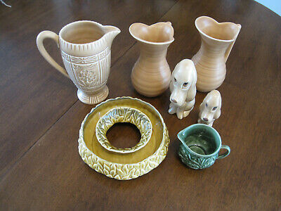 Sylvac Collection 2  Sad  Dogs, Pair Art Deco Jugs And 2 Other Jugs • 4.99£