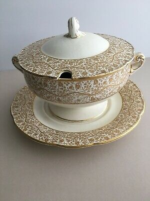 Crescent Ivory & Sons George Jones 31877 Soup Tureen Lidded With Under Plate • 32£