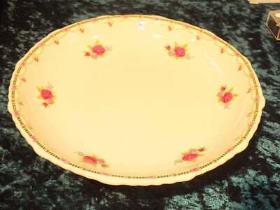 Pretty Cream With Pink Roses Vintage Pedestal Cake Stand/ Cake Plate • 15£