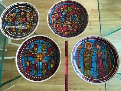 Four Lord Nelson Pottery Plates Depicting Cathedral Stained Glass  • 15£