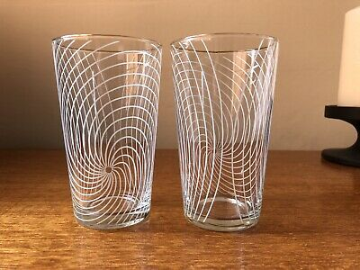 Chance Glass Tumblers In Swirl Design By Margaret Casson • 20£