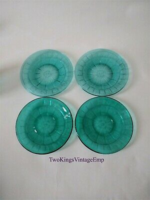 Teal Ultramarine Doric & Pansy Saucer & Tea Plate By Jeanette Glass Pennsylvania • 25.99£