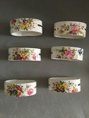Vintage Hammersley Howard Sprays Napkin Rings X 6 New! • 22£