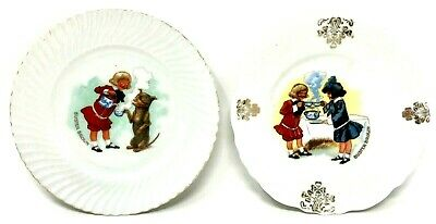 Vintage Buster Brown Wall Plates Set Of 2 Advertising Collectable Brown Shoe Co • 16.93£