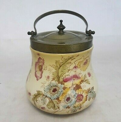 Antique - S.F. & Co - Biscuit Barrel With Lid And Handle - Stoke-On-Trent - 15cm • 20£