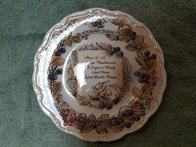 Brambly Hedge, Royal Doulton Recipe Plate Collection. Blackberry Sorbet. • 65.95£
