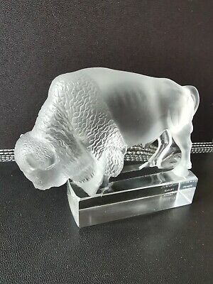 Rene Lalique Bison Paperweight • 545£
