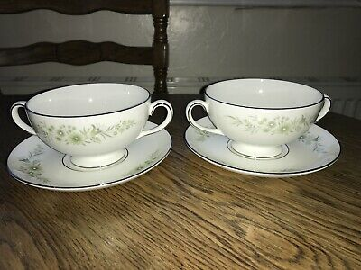 Wedgwood Westbury R4418 Pair Of Soup Bowls And Saucers • 9.99£