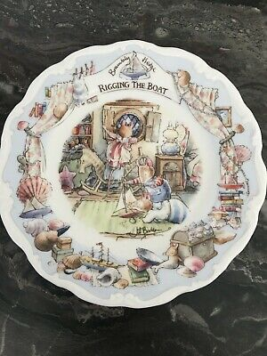 ROYAL DOULTON BRAMBLY HEDGE - Rigging The Boat-  Jill Barklem Plate 2001 • 22£