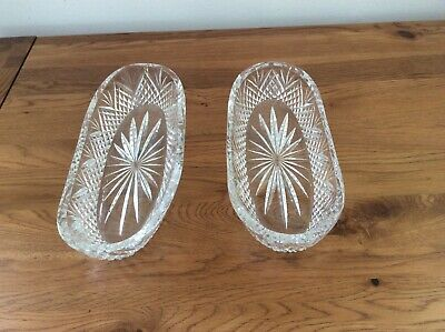 Two Waterford Crystal Celery Dishes • 30£