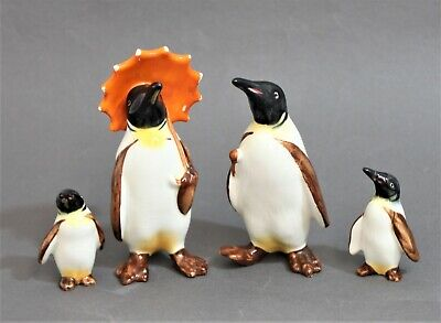 Beswick Cute Family Of Penguin Figurines - Thames Hospice • 10£
