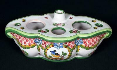 Antique French Faience Inkwell Early 1900s • 39.99£